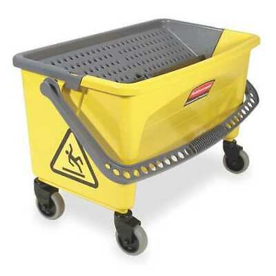 Mop Bucket and Wringer,28 qt,Yellow/Blk RUBBERMAID FGQ90088YEL