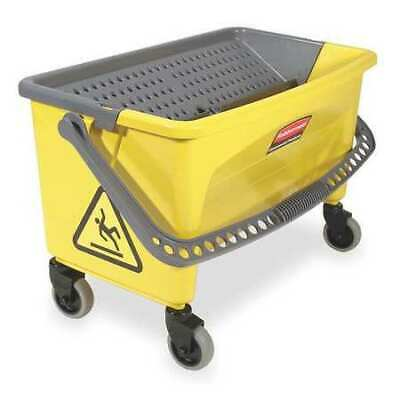 RUBBERMAID FGQ90088YEL Mop Bucket and Wringer, 28 qt, Yellow/Blk