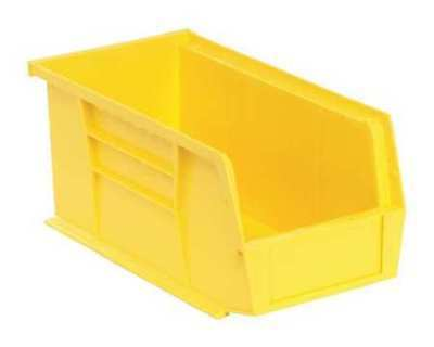 "Yellow Hang and Stack Bin, 10-7/8""L x 5-1/2""W QUANTUM STORAGE SYSTEMS QUS230YL"