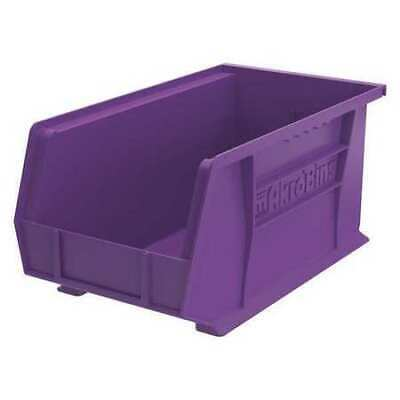 "Purple Hang and Stack Bin, 14-3/4""L x 8-1/4""W x 7""H AKRO-MILS 30240PURPL"