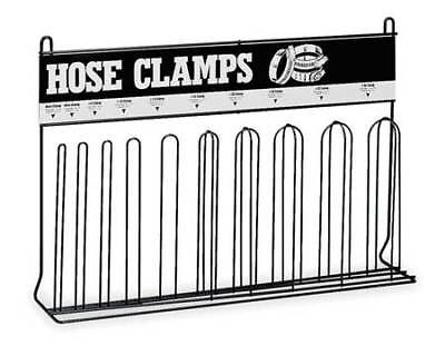Specialty Storage Rack, Loop Hose Clamp Rack (10), Black, Durham, 907-08-S129