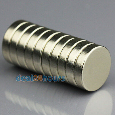 10pcs Disc Round Magnets 12 x 3 mm N50 Grade Rare Earth Neodymium Magnets