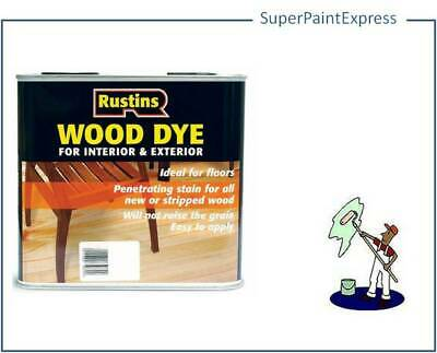 Rustins Interior & Exterior Wood Dye  Stain Ideal for Floors 2.5 Litre