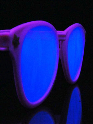 Schwarzlicht Partybrille Big XXL pink Blacklight Party Goa Freak