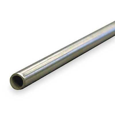 Tubing,0.18 in. ID,1/4 in. OD,Aluminum ZORO SELECT 4NRY4