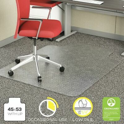 DEFLECTO 29PL63 Chair Mat, Traditional Lip, 45 x 53 In.