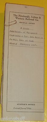 Pittsburg Lisbon & Western Railroad Company 1927 Journal Entry Nash Roadster SEE