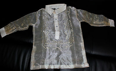 Barong Tagalog For Boys Pina Design Size 2  Approximately For 2-3 Years Old Boys