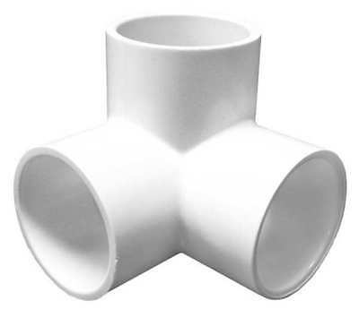 "1-1/2"" Socket PVC 90 Degree Elbow Side Outlet LASCO 413015"