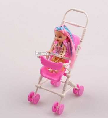 Delicate Cute Dolls Furniture Mini Plastic Software Ansys Cart +  Doll