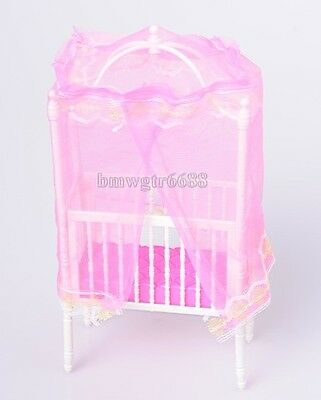 Cute Toys Bed Luxury  Doll Bed with Mosquito Curtain Toys Accessories Play