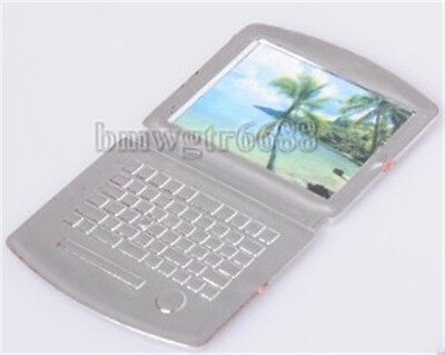 New Play House Computer Scene Accessories Doll Notebook Computer Silver Computer