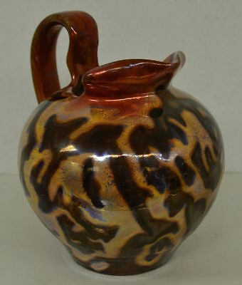 Antique Gouda Dutch Pottery Pitcher Humiyue Pattern Art Nouveau
