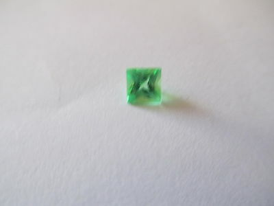 .76ct Loose Princess Cut Genuine Green Quartz 4.5 x 4.5mm