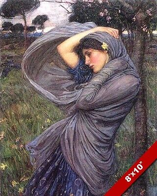 BEAUTIFUL YOUNG WOMAN GIRL EVENING LAKESIDE DREAM PAINTING ART REAL CANVAS PRINT