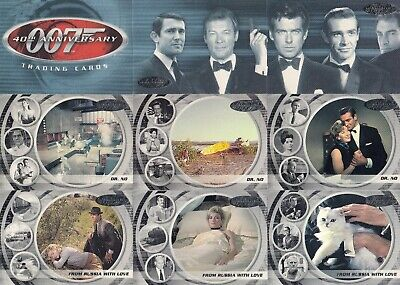 James Bond 40Th Anniversary 2002 Rittenhouse Complete Base Card Set Of 60 Movie
