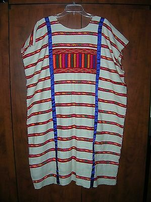 RARE Handmade One-of-a-Kind Mexican Huipil Dress, GORGEOUS + Free Purse & Sword!