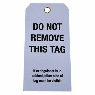 BADGER TAG & LABEL CORP 106 Fire Extinguisher Inspection Tag, PK25