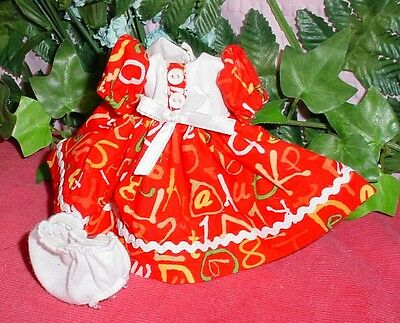 "Dress for 8"" Vogue Ginny Dolls and 8"" Madame Alexander dolls, seamstress made,"