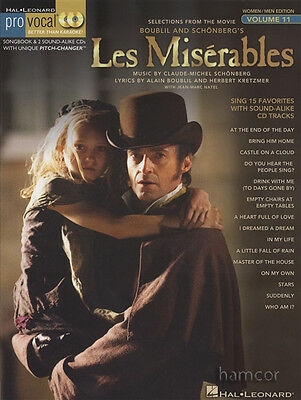 Les Miserables Pro Vocal Selections from the Movie Women/Men Edition Music Book