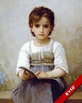 GIRL YOUNG WOMAN IN ORANGE DRESS RESTING OIL PAINTING ART REAL CANVAS PRINT