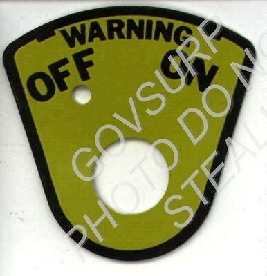 On Off Plate Beacon Black Yellow M-Series M37 M715 M35 7409993 9905-00-252-5587