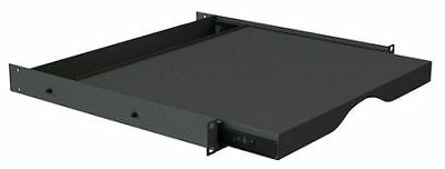 VIDEO MOUNT PRODUCTS ER-SS1U Sliding Shelf, Rack Mount, Black