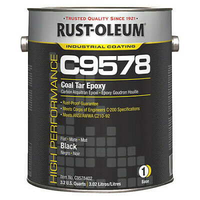 Black Coal Tar Epoxy Coating, C9578402, Rust-Oleum
