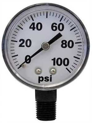 FIMCO 5167007 Pressure Gauge, 0 to 100 psi, 2In, 1/4In