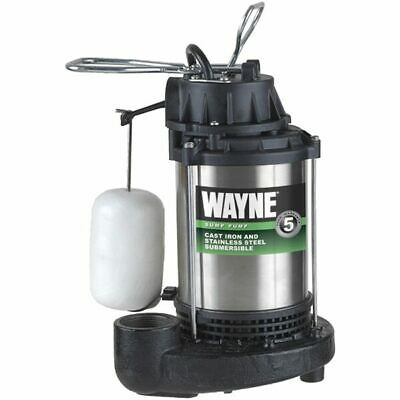 Wayne CDU1000 - 1 HP Stainless Steel Cast Iron Submersible Sump Pump w/ Verti...