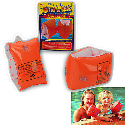 Childrens Baby Kids Safety Swimming Swim Armbands Floating Support Aids 2-6 Year