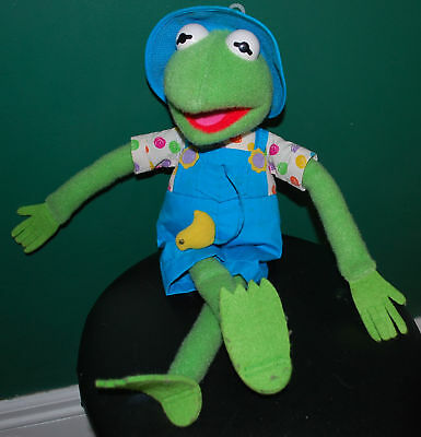 Vintage Kermit the Frog Muppets Hasbro Plush Doll Toy