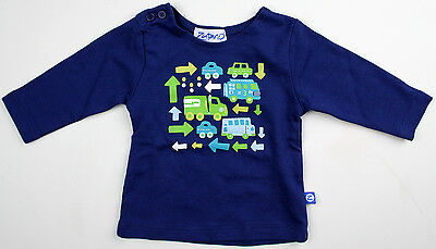 New Zutano Infant Baby Boys Blue Long Sleeve Shirt NWT Size NB Newborn Months