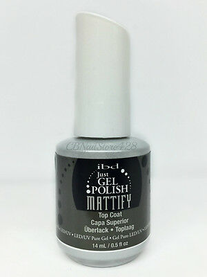 IBD Just Gel Polish - Soak-Off Matte MATTIFY  TOP COAT 0.5oz