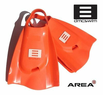DMC Swim Fins BRIGHT ORANGE / Swim Training Fins / Swimming Flippers