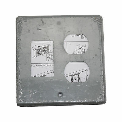 Wiremold Legrand G4047Bs 2-Gang Cover Plate 4000 Series Raceway, Gray