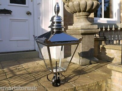 Victorian Lantern Lamp Post Top Garden Lighting  Stainless Steel Not Copper 3032