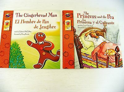 Lot 2 Bilingual/Spanish Fairy Tales kids story picture books Gingerbread Man