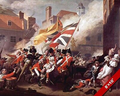 American Revolutionary War British Soldiers Oil Painting Art Real Canvas Print