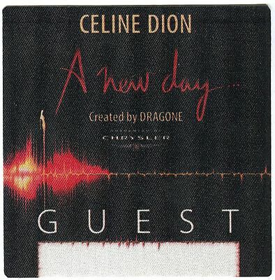 CELINE DION  2003-2005 A New Day Concert Tour Backstage Pass!!! Authentic OTTO