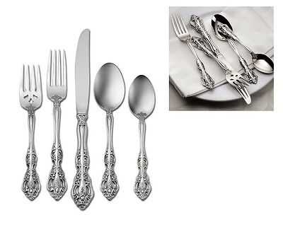 Oneida Michelangelo Service for 8 with Servers 18/10 Stainless Flatware Set