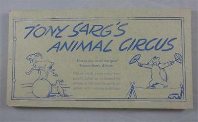 Tony Sarg's Animal Circus Nat'l Biscuit Shredded Wheat Coloring Cards Lot Of 17