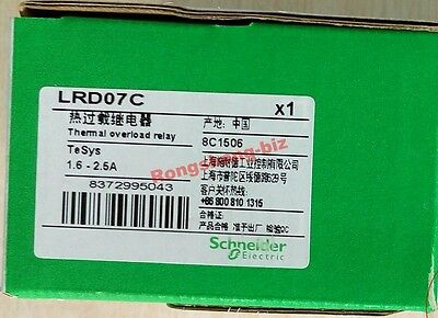 New Schneider Thermal Overload Relay LRD07C 1.6-2.5A