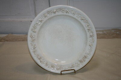 """Wedgwood Embossed Queensware Charger Plate 12.5"""" Vintage Cream on Cream"""