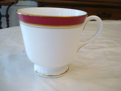 Royal Worcester Howard Ruby 1 Cup, and 1 Bread and Butter Plate New, never used