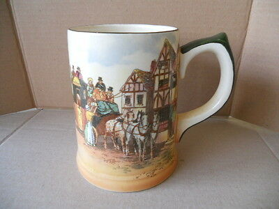 Royal Doulton Old English Coaching Scenes Tankard (D6393) Ex Condition