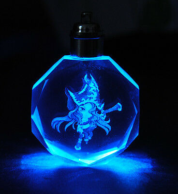 League Of Legends All Star Crystal 7 Color Flash LED Light Keychain Miss Fortune