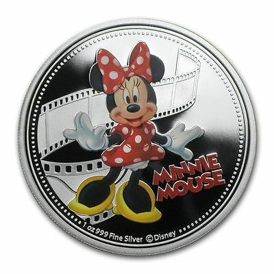 Niue 2014 2$ Disney Mickey & Friends 2014 - Minnie Mouse 1 Oz  Proof Silver Coin