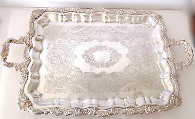 SilverPlate Platter Footed Tray SHERIDAN E.P. BRASS TAUNTON SILVERSMITHS