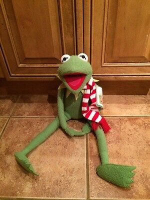 "Kermit the Frog W/striped Scarf 20"" Plush Toy eden gifts"